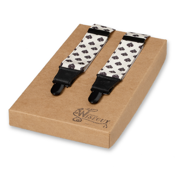 Wiseguy Suspenders - Spades All Black (1)