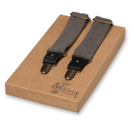 Wiseguy Suspenders - The Duck Canvas - Grey (1)