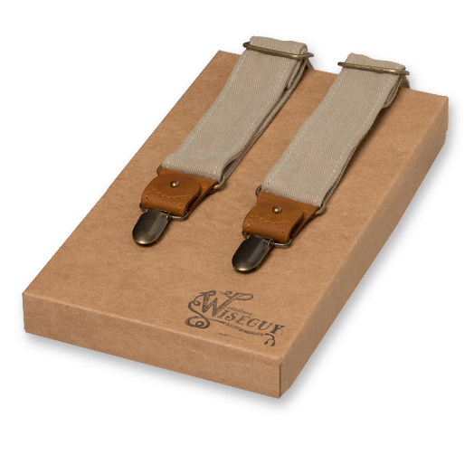 Wiseguys Suspenders - The Duck Canvas - Beige (1)