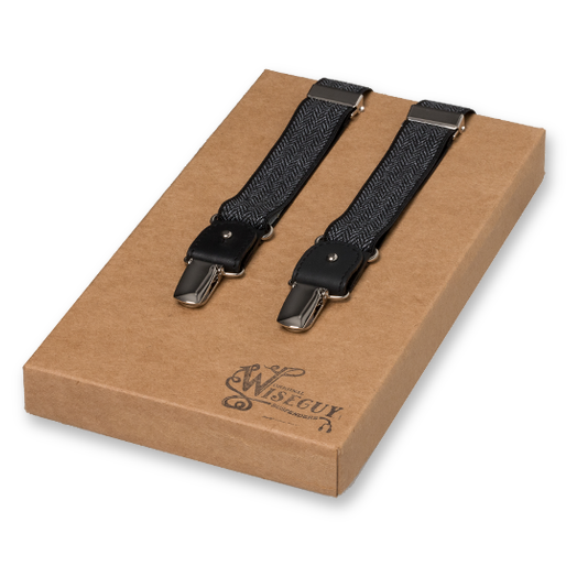 Wiseguys Suspenders - The Herringbone - Black (1)