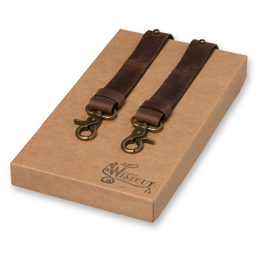 Wiseguy Suspenders - Crazy Horse Dark Brown (1)