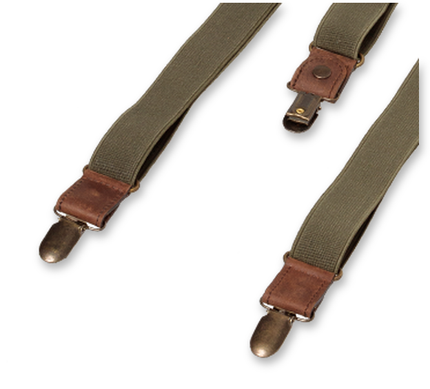 Wiseguy Suspenders - Army Green (3)